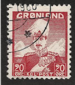 Greenland 1946 Sc #6 Used F-VF Cat $1.40...Quality Bargain!
