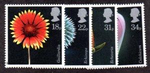 GREAT BRITIAN 1168-1171 MNH SCV $4.20 BIN $2.10 FLOWERS