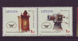 Lithuania Sc 810 2006 Music Cinema Museum stamp set mint NH
