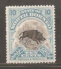 North Borneo  SC 144  Mint  Hinged