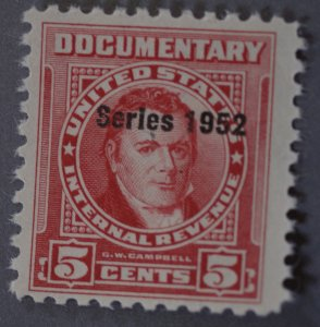 United States #RS90 Documentary Series 1952 Overprint MNH