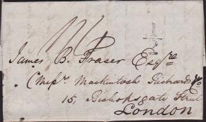 GB SCOTLAND 1833 folded entire INVERNESS via Edinburgh to London............7254