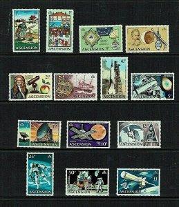Ascension Island: 1971, Evolution of Space, definitive series,  MNH set