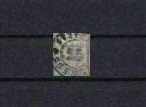 VENEZUELA 1862 IMPERF   STAMP ½ c LILAC  USED  CAT £190      REF 6286