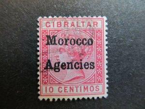 A4P9F63 Morocco Agencies 1899 10c used