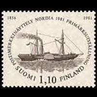 FINLAND 1981 - Scott# 654 Mail Boat Set of 1 NH