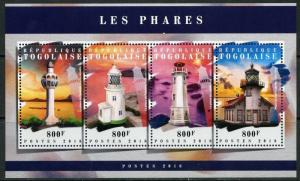 TOGO 2018  LIGHTHOUSES SHEET MINT NEVER HINGED