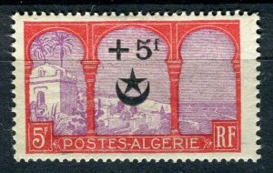 FRENCH; ALGERIA 1927 Wounded Soldiers issue fine Mint hinged 5Fr. value