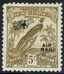 NEW GUINEA 1931 DATED BIRD AIRMAIL 5/-
