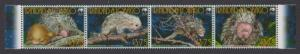 Trinidad and Tobago WWF Brazilian Porcupine Strip of 4v MI#955-958 SC#840a-d