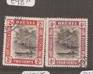 Brunei 1907 SG 24,26a VFU (1axi)