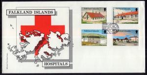 Falkland Islands 465-468 Hospitals U/A FDC