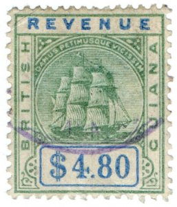 (I.B) British Guiana Revenue : Duty Stamp $4.80
