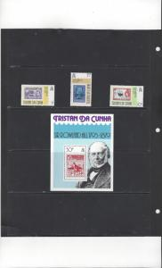 Tristan da Cunha 260-3 Sir Rowland Hill Souvenir Sheet  MNH