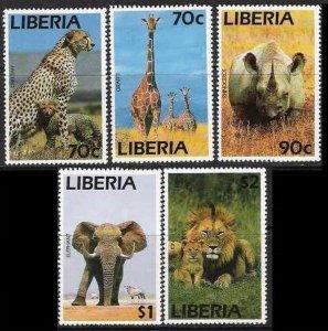 1995 Liberia 1624-1628 Cats 20,00 €