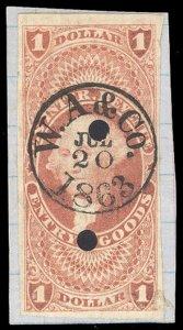 U.S. REV. FIRST ISSUE R67a  Used (ID # 97690)
