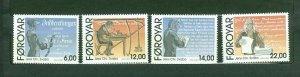 Faroe Islands. Complete. Set 4 Stamp 2010 Mnh. Jens Christian Svabo.