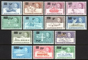British Antarctic Territory 25-38, MNH. Antarctic research. New value, 1971