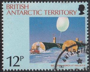 British Antarctic Territory 1991 used Sc #176 12p Launching weather balloon