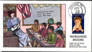 US Collins FDC SC#2449 Marianne Moore