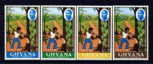 GUYANA 1971 Complete Self-Help Road Project Set SG 538 to SG 541 MINT