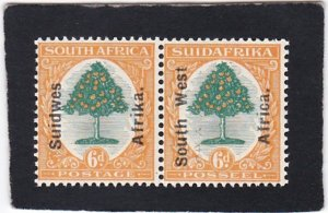 South West Africa,  #  87    unused  pair