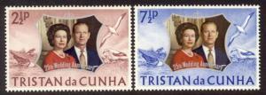 Tristan da Cunha Sc# 178-9 MNH 25th Wedding Anniversary