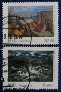 Iceland Painting Stamps Scott # 1320-1 Used (I857)