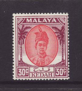 1955 Kedah 30c Mounted Mint SG85a