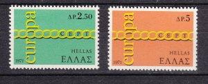 J26464 1971 greece set mnh #1029-30 europa
