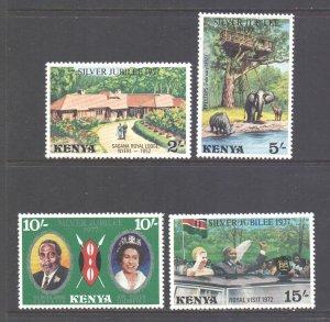 Kenya Scott 84/87 - SG91/94, 1977 Silver Jubilee Set MH*
