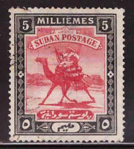 SUDAN Scott 22 Used Camel mail stamp wmk 179