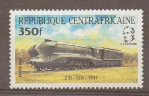 CENTRAL AFRICAN REPUBLIC SG1019 350f 1984 TRANSPORT MNH