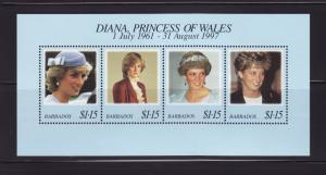 Barbados 950 Set MNH Princess Diana