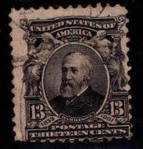 USA Scott 308 Used Harrison stamp 1902-03
