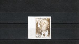 Monaco 1988 Jean Monnet Nobel Prize Set Imperf.Color Proof.