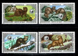 Mongolia 1510-1513, MNH, Animals 1986. x22750