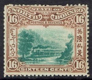 NORTH BORNEO 1897 TRAIN 16C PERF 13.5 - 14