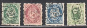 Norway #29, 30, 31, 32 ALL USED