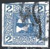 AUSTRIA.  #P15. Newspaper Stamp.  EF Used.. .Payment in  US Dollars.