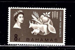 Bahamas 180 MNH 1963 Freedom From Hunger