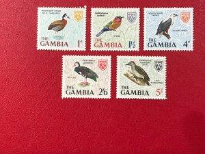 GAMBIA Sc#216-217//220//224-225 1966 Birds  Short set MNHOGVF/SUP (HS-17)