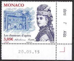 Monaco 2015 Music Opera Singers Adelina Patti MNH**