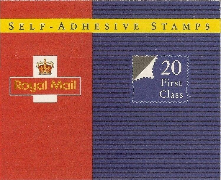 GB 1993 Self-Adhesive 20 x 1st Booklet MG1