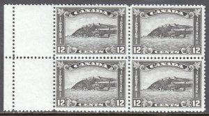 CANADA  — SCOTT 174 — 1930 12¢ CITADEL AT QUEBEC — MH/MNH — BLOCK/4 — SCV $165