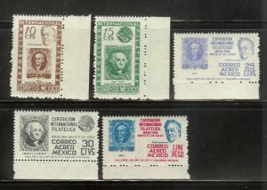 Mexico 826-827, C167-C169 Set MNH Stamps on Stamps (B)