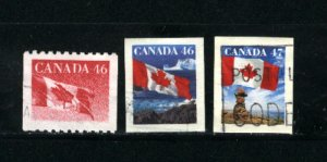 Canada #1695, 1698,1700    -4  used VF   PD