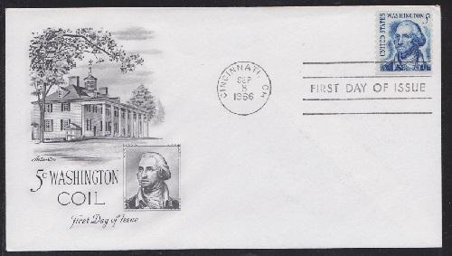 1304 Washington coil single Unaddressed Artmaster FDC