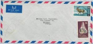 61366  - KENYA  - POSTAL HISTORY -  COVER to ITALY 1967 - FAUNA Animals