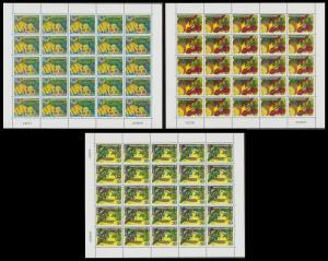 New Caledonia Fruit 3 sheetlets of 25v each issue 2007 SG#1426 MI#1446-1448